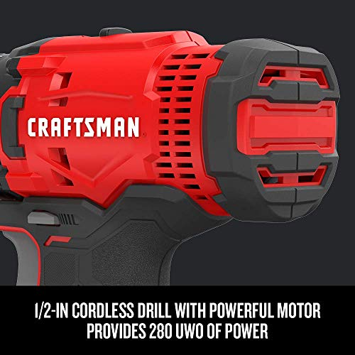 CRAFTSMAN V20* Cordless Drill Combo Kit, 2 Tool (CMCK200C2)