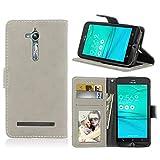 Ycloud Portefeuille Coque pour ASUS Zenfone Go ZB500KL 5.0'' Smartphone, Mate Texture PU Cuir Flip...