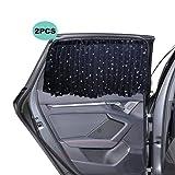 Parasol Coche Infantil Lateral - ZATOOTO Parasol Coche Lateral Magnéticas para Ventanas de Automóviles para Bloquear Los Rayos UV y para la Privacidad, Engrosadas Mejoradas(2 Piezas)