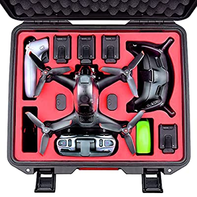 FPVtosky Professional DJI FPV Case, Waterproof Hard Carrying Case for DJI FPV Combo Drone, Goggles V2, Motion Controller and Other Accessories, Hold 5 Batteries, 2 Sets of Propellers