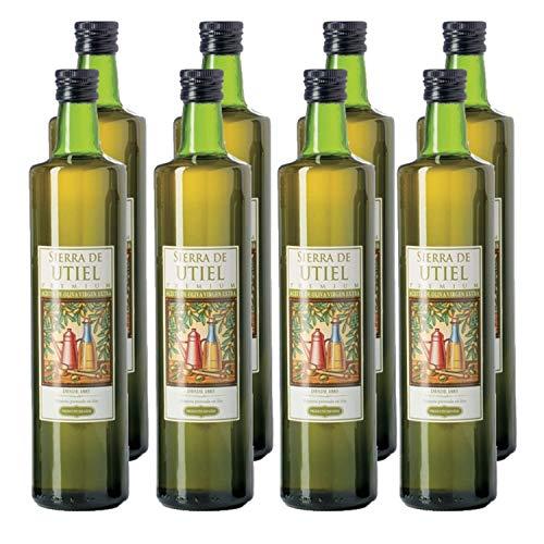 Sierra de Utiel - Aceite de Oliva Virgen Extra Premium - Caja de 8 botellas de 750 ml - AOVE 100% natural producido en España…