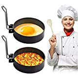 YEAILIFE Egg Ring, Round Egg Cooker Rings For Cooking, Stainless Steel Non Stick Metal Circle Shaper Mold, Household Kitchen Cooking Tool for Frying McMuffin or Shaping Eggs, Egg Maker Molds