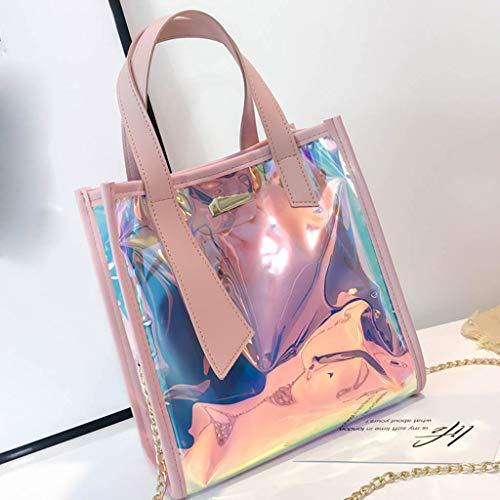BaZhaHei Bolso de Hombro de Bolsa de Mensajero del Bolso del Color de MúLtiples Funciones de Moda de Mujer