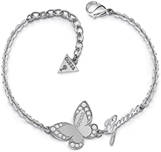 Bracciale Indovinate Amore Farfalla chirurgico in acciaio inossidabile placcato rodio logo UBB78049-S [AC1119]