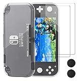 Schutzhülle für Nintendo Switch Lite, REDTRON Comfort TPU Crystal Cover Case mit Hartglas-Schutzfolie & Daumengriffkappen für Nintendo Switch Lite Console 2019