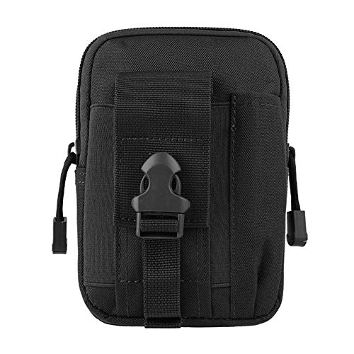 ZIXIXI Heuptas waterdicht Nylon multifunctionele Toevallige Mensen Tool kleine tas Mobile Phone Case Bag (Color : Black)
