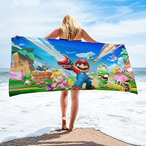 Super Mario - Toalla de playa (100% poliéster, calidad aterciopelada, 35 x 35 cm)