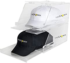 The Clear CapBox Stackable Hatrack Cap Rack Hat Box Storage Containter for Baseball Caps, Fitted Hats, Snapbacks & Trucker...