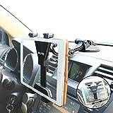 タブレットホルダー 車載ホルダー、OHLPRO【進化版】自動車エアコン吹出口/フロントガラス/ダッシュボード兼用、 粘着ゲル 真空 吸盤、IPAD IPADmini Samsung Galaxyなど6~10.5インチタブレットスタンド 等対応