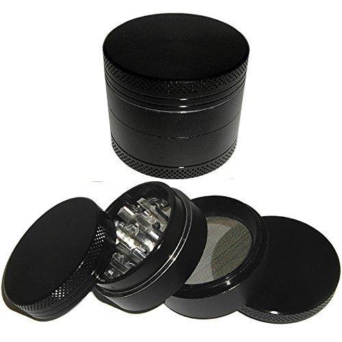 Black Leaf Alugrinder 40mm 4teilig schwarz Magnetverschluss inkl. Samtbeutel