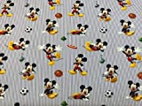 Stoff Disney Mickey Mouse Streifen blau 100% Baumwolle