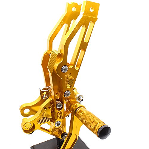 Krace Motorcycle Rearsets Foot Pegs Rear Set Footrests Brake Shift Pedals Fully Adjustable Foot Boards Fit For Honda Grom MSX 125 2012 2013 2014 2015