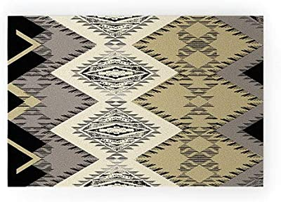 """Society6 Pattern State Marker Southwest Night Welcome Mat, 30"""" x 20"""", Black"""