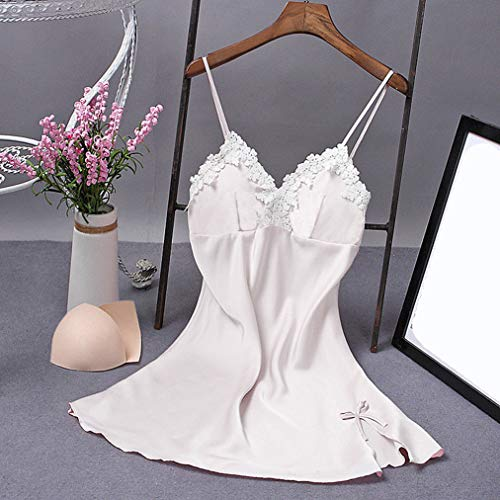 Wxxly Lencería Sexy Mujer Sexy Lencería Picardias Body Transparente Conjunto de Encaje Pecho Abierto Sexy Ropa Erótica Pijama Abierta Picardías Babydoll a Juego Camisón de Encaje,Blanco,XXL