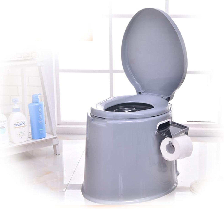 TTHU Mehrzweck-Toilette Tragbare Toilette rutschfeste Kunststoff-Innentoilette, wenn Hnde und Füe unbequem sind Mobile Toilette Erwachsene Toilette im Freien