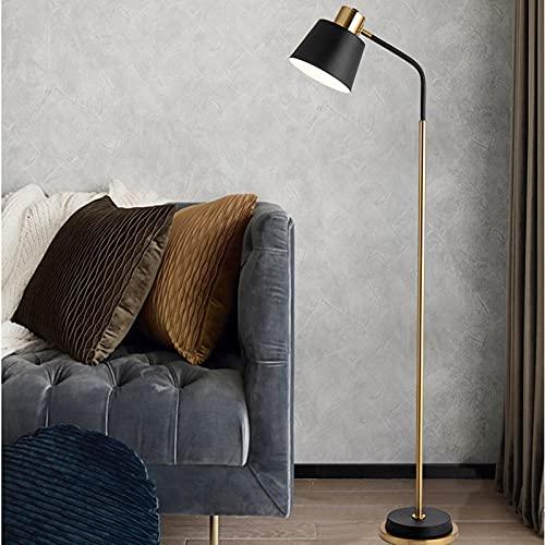 LED Retro Lámpara de Pie Iluminación Interior Moderno Foco de Luces 5W Metal E27 Vintage Industrial Lámpara de Lectura incluye interruptor de pie para Sala de Estar Oficina (Color : Warm light)
