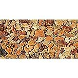 AWERT Fondo de acuario de piedra de 91 x 50 cm, color naranja Rocky Fish Tank Fondos de Terrario de roca Fondo de vinilo duradero (no adhesivo)