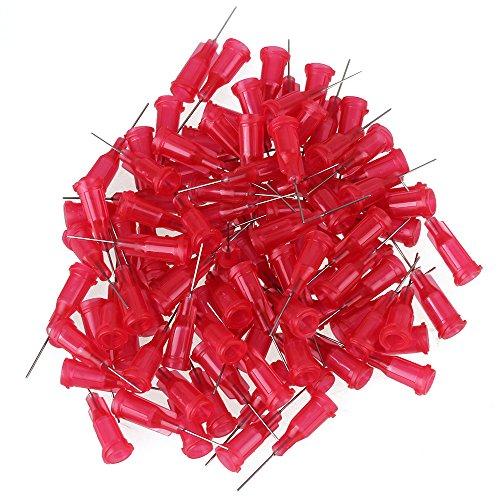 100 St¨¹cke Edelstahl 25Ga stumpfe Nadelspitze f¨¹r Fl¨¹ssigkeitsspender Klebstoff Klebstoff mit 1/2