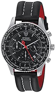 DETOMASO Men's Firenze Quartz Watch with Black Dial Chronograph Display and Black Leather Bracelet SL1624C-BK (B0036ZBTD8) | Amazon price tracker / tracking, Amazon price history charts, Amazon price watches, Amazon price drop alerts