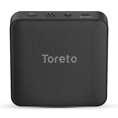 Toreto BASH-336, 5W Portable Wireless Bluetooth Speaker with Mic,Aux,TF Card,USB Port, HD Stereo Sound Quality with Amazing Battery Life TOR-336 (Black)
