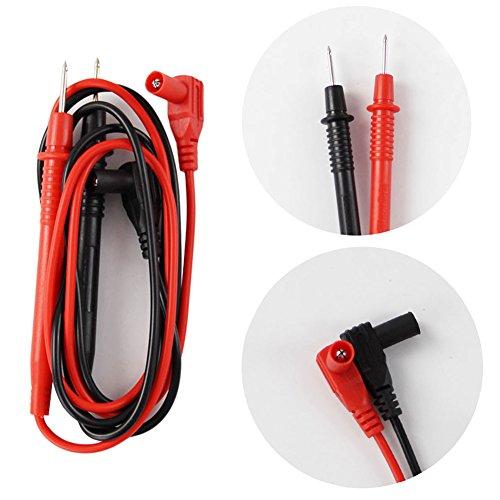 zNLIgHT Tool | Draagbare Naald Probe Test Leads Pin draad Pen Kabel Multimeter Tester Accessoire - Zwart-rood OneSize Zwart-rood