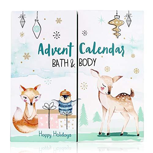 accentra Adventskalender Happy Holidays 2021 für Mädchen mit 24 Bade-, Körperpflege und Accessoires Produkten für eine abwechslungsreiche und verwöhnende Adventszeit