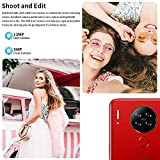 Mobile Phone, Blackview A80 SIM-Free Unlocked Mobile Phones, 4G Android 10 Smartphone with 6.217 inches Waterdrop Screen, 13MP Camera, 4200mAh Battery, 128GB Extension, Face/Fingerprint Unlock - Red