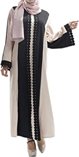 Qianliniuinc Adult Party Gowns Long Sleeve-Women Dresses Skirt Garment Robe Muslim Islamic Arabian Abaya Costume Prayer Clothes