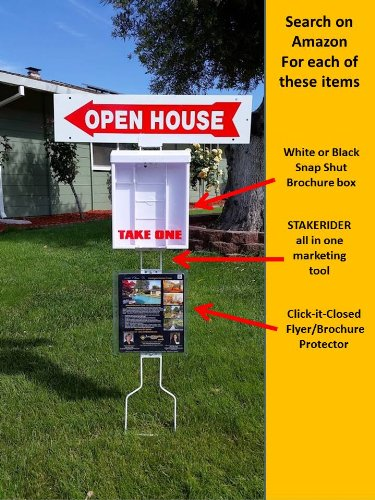 Click-it-Closed- Sheet protector -Wall/Fence/Post/Window Mount Sign Holder 8 1/2 X 11 PRINT PROTECT POST - *2 Per Package- Mount Horizontal with hinge at top if exposed to rain