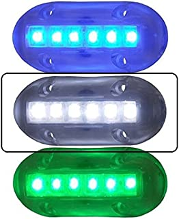 AMRT-LED-51866-DP * T&H Marine WHITE LED Underwater Lites 1.5'' X 3.5''