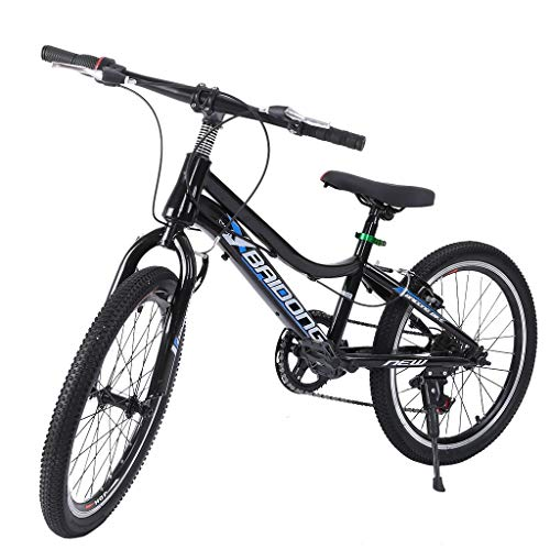 VBBV Mountain Bike, Youth and Adult Mountain Bike, Steel Frame, 7 Speeds Options, 20Inch Wheels, Stone Mountain Trail Bike