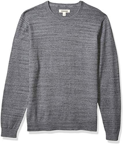 Amazon Brand - Goodthreads Men's Soft Cotton Crewneck Summer Sweater, Grey, Large