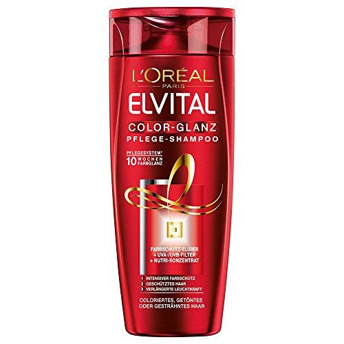 L'Oréal Paris Elvital Color-Glanz Pflege-Shampoo, 3er Pack (3 x 250 ml)