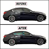 Chrome Delete Blackout Overlay for 2014-21 Infiniti Q50 Q50S Sedan Window Trim (Gloss Black)