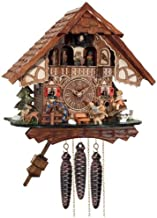 River City Clocks One Day Musical Cuckoo Clock Cottage with Boy and Girl on Seesaw