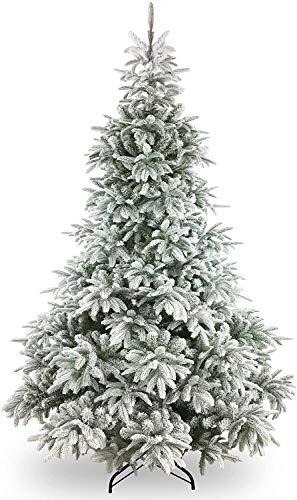 HACSYP Albero di Natale Artificiale, Decorazioni di Natale 7ft Neve capovolti Albero di Natale Artificiale di Pino Coperto