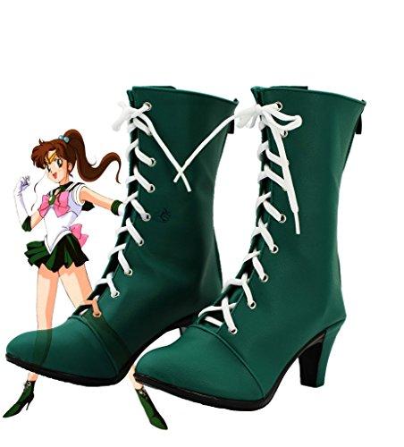 Telacos Sailor Moon Sailor Jupiter Makoto Kino Cosplay Shoes Boots Custom Made