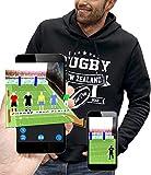PIXEL EVOLUTION Sweat à Capuche Rugby New Zealand Enfant - Taille 12 Ans - Noir