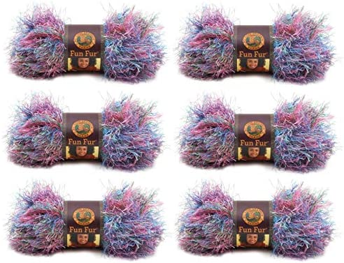 Lion Brand Yarn Fun Fur 6 Pack Tropical product image