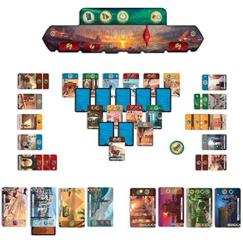 7 Wonders Duel Board Game (BASE GAME) | Board Game for 2 Players | Strategy Board Game | Civilization Board Game | Fun Board Game | Board Game for Couples | Ages 10 and up | Made by Repos Production