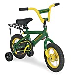 TOMY John Deere Heavy Duty Kids Steel Bicycle, 12-Inch, Green and Yellow