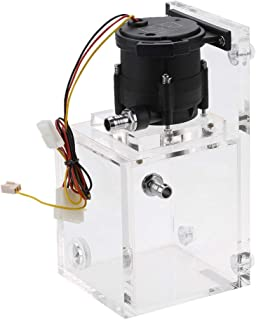 Meiyya Water Cooled Tank, Integrated 890ML PC Cooled Water Pump + Acrylic Water Cooling Tank 1200L/H