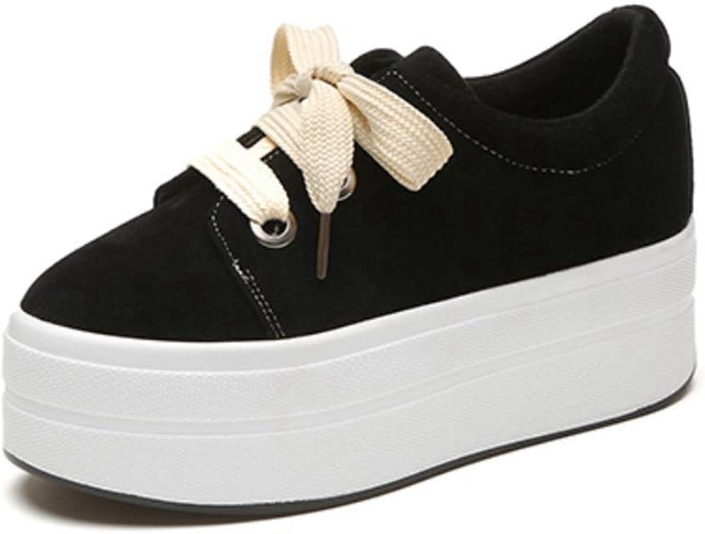ASO-SLING Women Platform Fashion Sneakers Casual Canvas Flats shoes Low Cut Hidden Heel Round Toe Sneakers