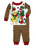 Baby Boys Winnie The Pooh Christmas Cotton Tight Fit Pajamas 9 Months Red, Green