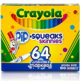 Crayola Pip-Squeaks Skinnies Washable Markers, 64 count, Great for Home or School, Perfect Art Tools (B0019665DK) | Amazon price tracker / tracking, Amazon price history charts, Amazon price watches, Amazon price drop alerts