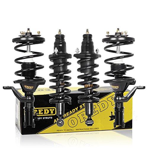 OREDY Struts 4PCS Full Set Front Rear Shocks and Struts Complete Shocks Struts Assembly 171433 171434 171340R 171340L Coil Spring Struts Kit Compatible with Civic 01 02 03 04 05 Shocks Struts Assembly