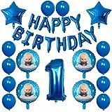 ENXI Globos 30 unids Dibujos Animados Bebé Boss Balloons Feliz Cumpleaños Fiesta Foil Balloons Balloons Fiesta de Cumpleaños Decoraciones Air Globo Suministros ( Color : Deep Sapphire )