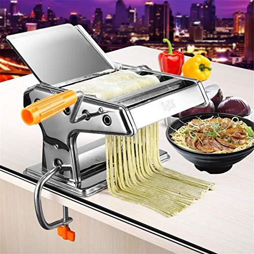 [Verbessert] Nudelmaschinenhersteller, Edelstahl-Multifunktion für frische Fettuccine-Spaghetti-Lasagne-Teigwalzen-Pressschneider Nudelmaschinen-Nudelroller