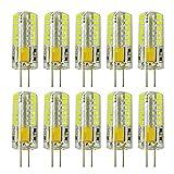 Rayhoo 10pcs G4 LED Bulbs JC Bi-Pin Base Light Lamps 3 Watt AC/DC 12V 20W-30W T3 Halogen Track Bulb Replacement Landscape Bulbs(White 5800-6200K)