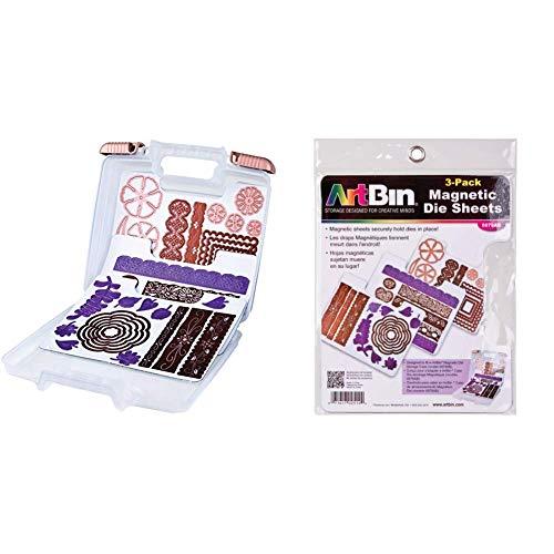 Artbin Magnetic Die Storage Case & 6979AB Magnetic Die Sheets, Pack of 3
